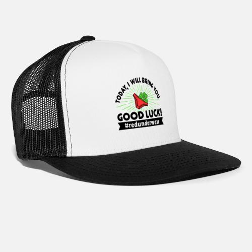 7e7ebbb512960 Good Luck Lucky Charm Happy New Year Funny Saying Trucker Cap ...