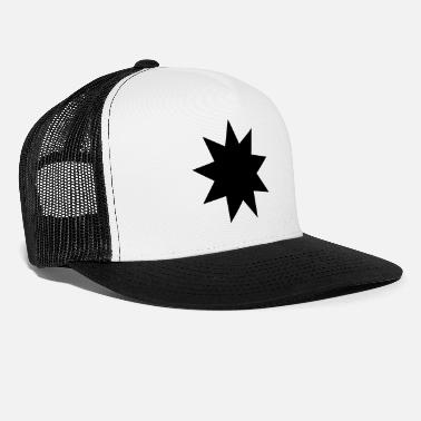 Five Point Star The nine-pointed Bahai star - Trucker Cap