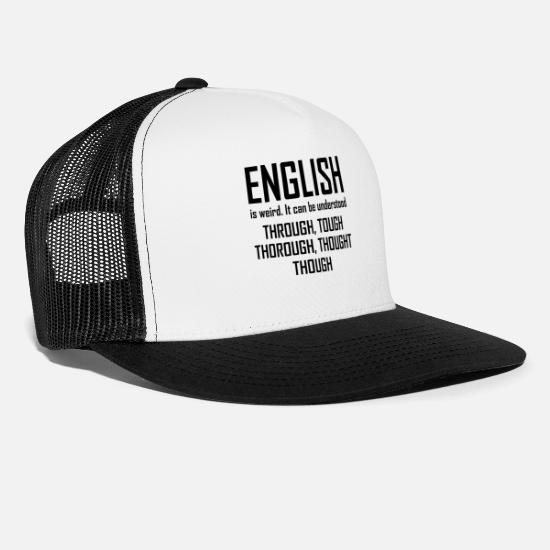 Grade Caps - English Grammar product - Is Weird It Can be - Trucker Cap white/black