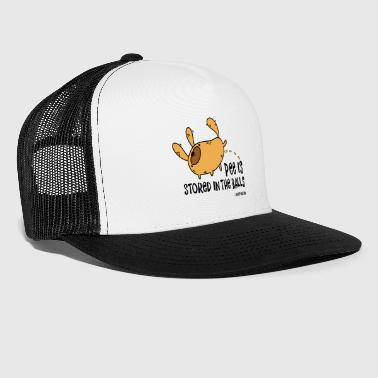 Pee is stored in the Balls. Funny urinating dog. - Trucker Cap