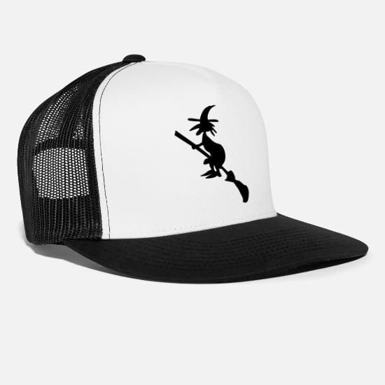 Magic Caps - Witch - Trucker Cap white/black