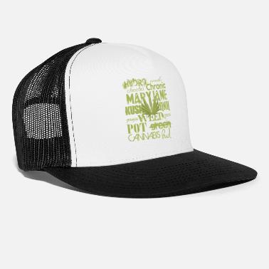 cef30d28c03 Marijuana llamas - Trucker Cap