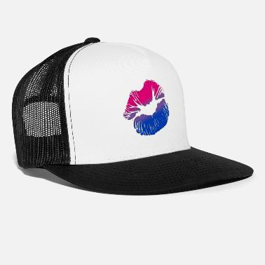 Lips Bisexual Big Kissing Lips - Trucker Cap