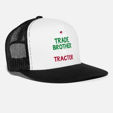 Kids Trade With Santa Funny Christmas Tractor Gift - Trucker Cap