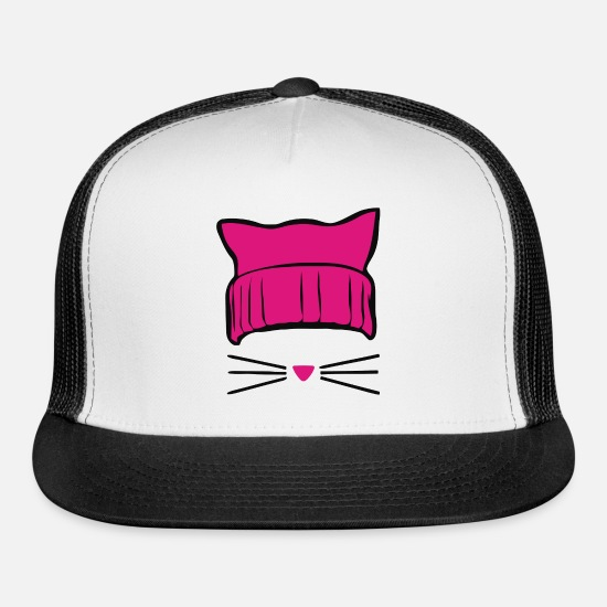 Pussycat Caps - pussycat - Trucker Cap white/black