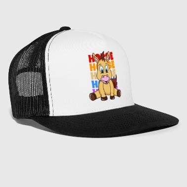 Retro Vintage Pop Art Style Horse Pony Riding - Trucker Cap