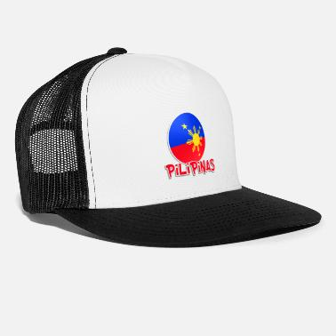 Light Blue White Red More Fun Philippines 1 - Trucker Cap