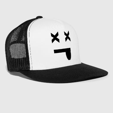 Mist Blackout Smiley,  - Trucker Cap