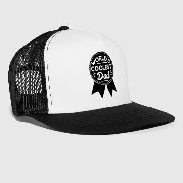 Medal Worlds Coolest Dad Medal Award - Trucker Cap