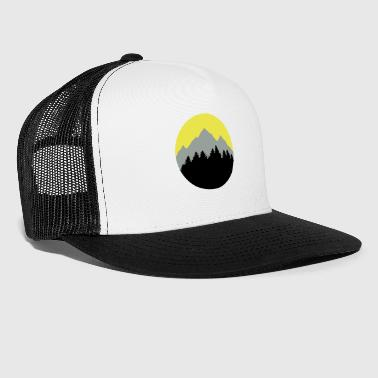 Forest, Mountains, Sunrise/Sunset - Trucker Cap