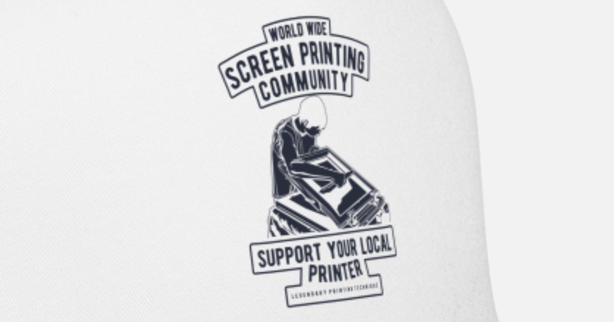 36812cb68be80 Screen Printing Community Support Local Trucker Cap