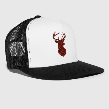 Deer antlers checkered - Trucker Cap
