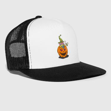 halloween flamingo - Trucker Cap