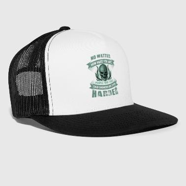 cold shower people are even harder - Trucker Cap