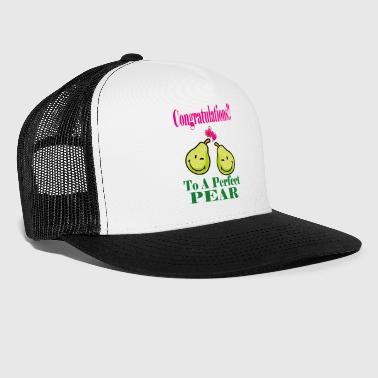 Congratulations congratulations for the perfect pear or pair - Trucker Cap