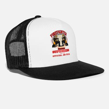 Blaze Fire Department Firefighter Fireman Flame Gift - Trucker Cap