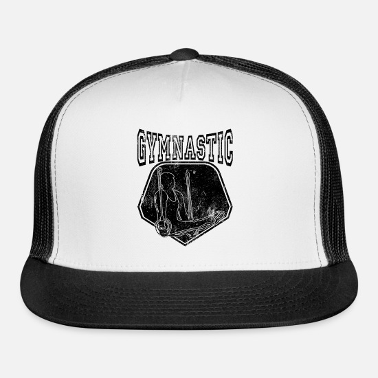 Gift Idea Caps - Gymnastic Sports Gift - Trucker Cap white/black