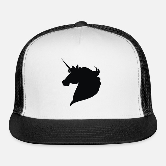 Unicorn Caps - Unicorn - Trucker Cap white/black