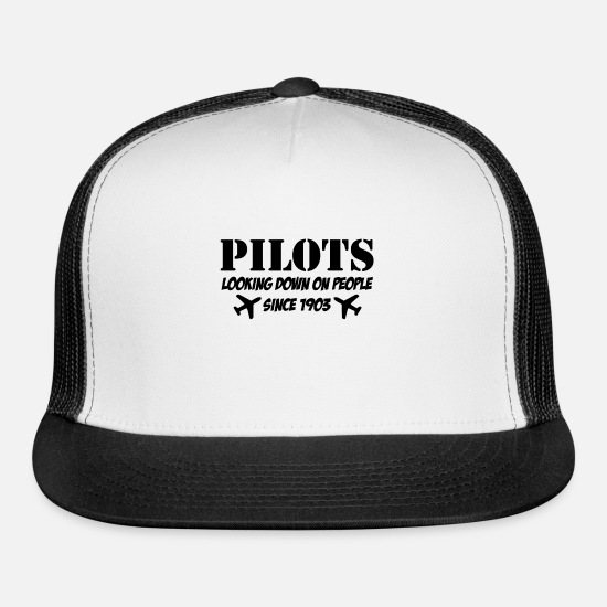 Funny Pilot quotes, Christmas Gift Trucker Cap - white/black