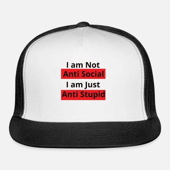 Social Democracy Caps - Hilarious Saying - Trucker Cap white/black