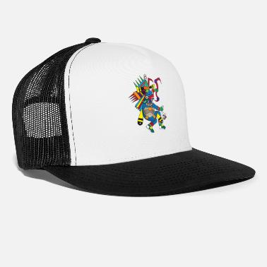 Aztec aztec mod Quetzalcoat Aztec God feathered snake - Trucker Cap