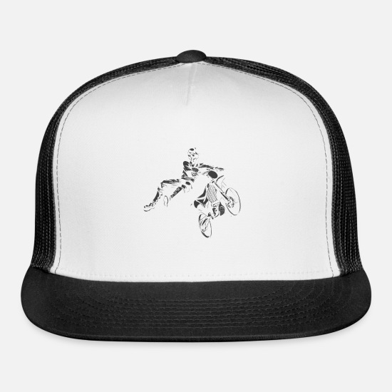 Fly Caps - Moto X Jumpstyle Fly High - Trucker Cap white/black