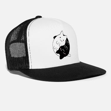 Yin Yang Cats Kittens - Trucker Cap