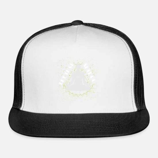 Zen Caps - Funny Novelty Gift For Buddhist - Trucker Cap white/black