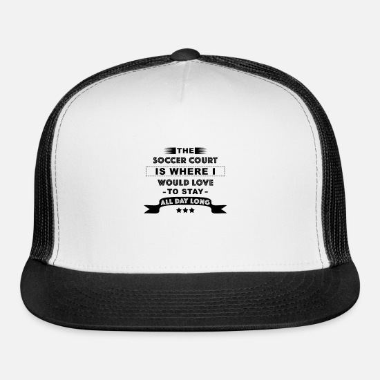Football Caps - Soccer Field - Football Pitch - Trucker Cap white/black