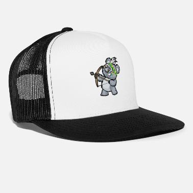 Indian Bear CUTE INDIAN KOALA BEAR Bow and Arrow Cartoon Gift - Trucker Cap