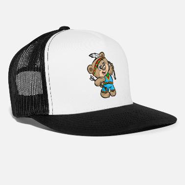 Indian Bear CUTE INDIAN BEAR Bow and Arrow Native American - Trucker Cap