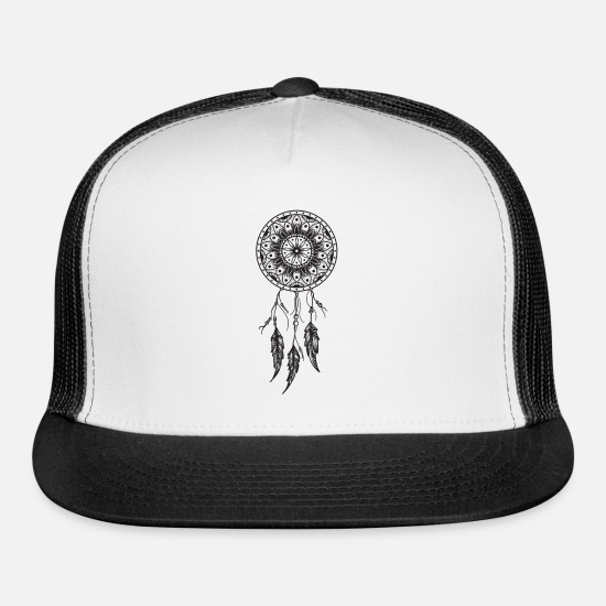 Native American Caps - Dream catcher Dreamcatcher - Trucker Cap white/black