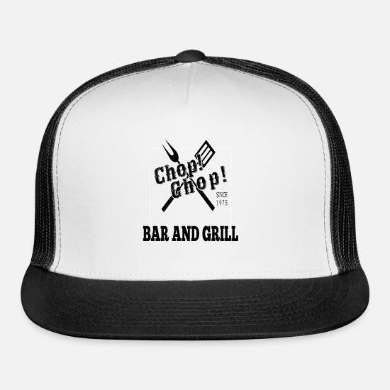 Bar Caps - Bar and Grill - Trucker Cap white/black