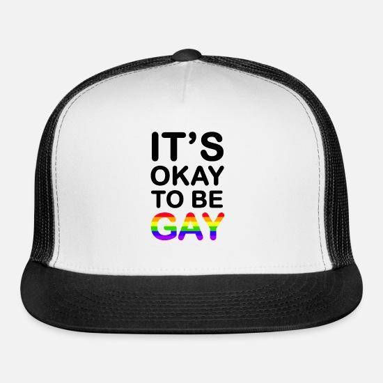 23b3122e2 Gay Lesbian Marriage Homosexual LGBT Gift Trucker Cap - white/black
