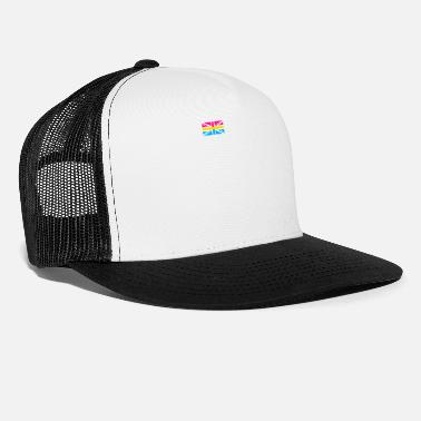 Parade Pansexual UK Flag graphic LGBTQ Pride Gift Idea - Trucker Cap