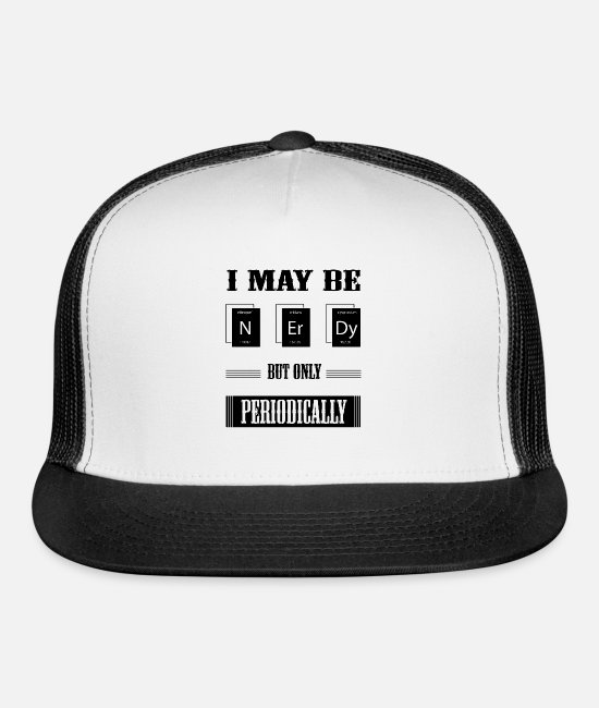 Periodic Table Caps & Hats - Nerdy - Trucker Cap white/black