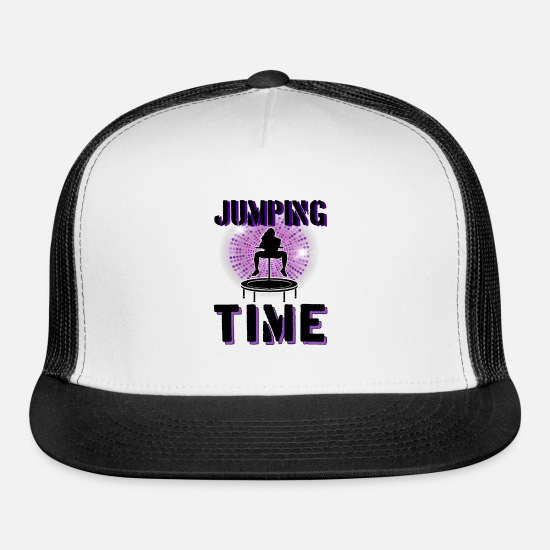 Jumpstyle Caps - Jumping Trampoline Fitness Workout Trendsport - Trucker Cap white/black