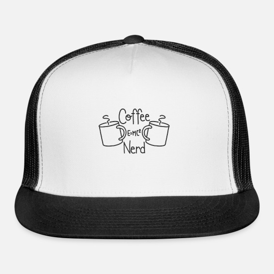 Coffee Bean Caps - Coffee Nerdy - Trucker Cap white/black