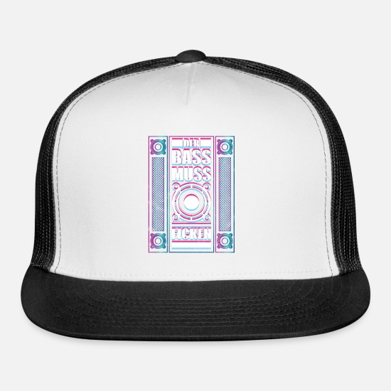 Mdma Caps - Techno ACID Psytrance The Bass Fuck - Trucker Cap white/black