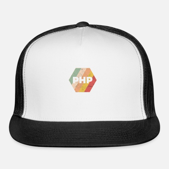 Coder Caps - Developer Programmer PHP - Trucker Cap white/black
