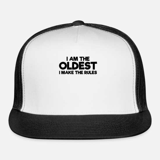 Christmas Caps - Grandpa Grandma Mummy Daddy Birthday Father's Day - Trucker Cap white/black