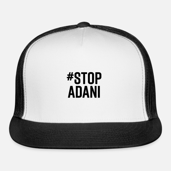 Power Plant Caps - Start Adani - Trucker Cap white/black
