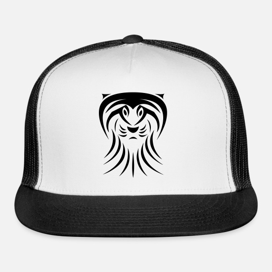 Gift Idea Caps - Lion Tribal Tattoo - Trucker Cap white/black