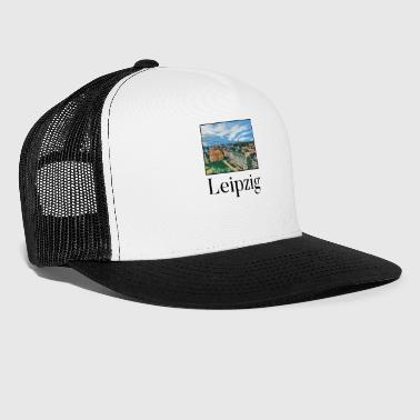 Landmark Leipzig City Skyline Sights Silhouette Landmark - Trucker Cap