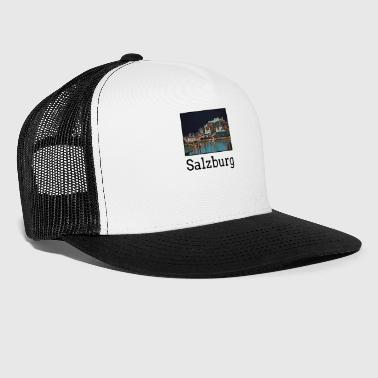 Landmark Salzburg City Skyline Sights Silhouette Landmark - Trucker Cap