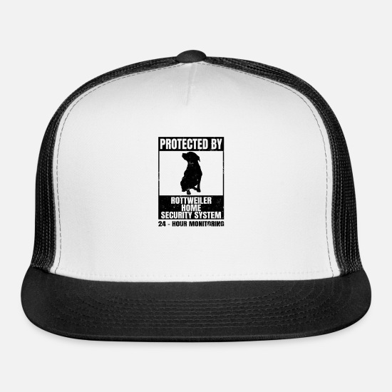Dog Friend Caps - Rottweiler Mom Protected By 24h Security Gift - Trucker Cap white/black