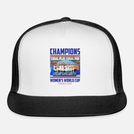 Champions USA Women's World Cup France 2019 Winner Trucker Cap - white/black