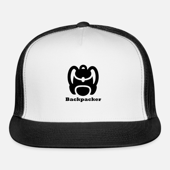 Climber Caps - Backpacker - Trucker Cap white/black