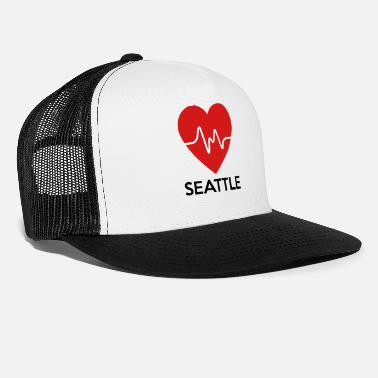 Seattle Heart Seattle - Trucker Cap
