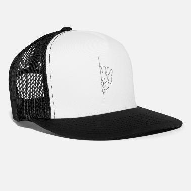 Bunny Rabbit bunnies bunny drawing - Trucker Cap